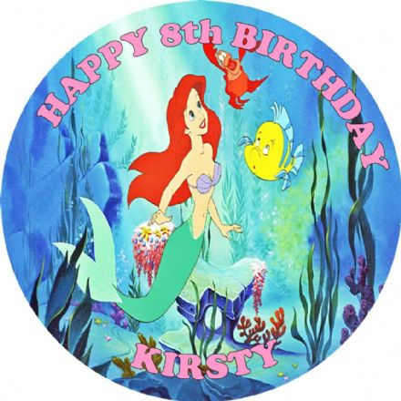Little Mermaid Edible Cake Topper